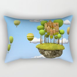 New City in the Sky Rectangular Pillow