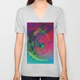 Colorful galaxy Unisex V-Neck