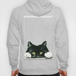 Black Cat looking out in Frame Hoody
