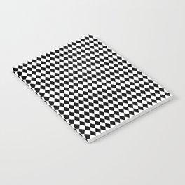 mini Black and White Mini Diamond Check Board Pattern Notebook
