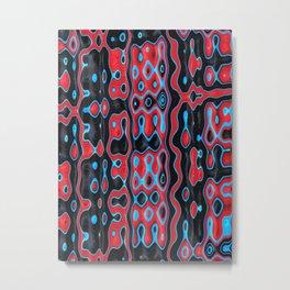 SHAMAN red black blue modern abstract design Metal Print