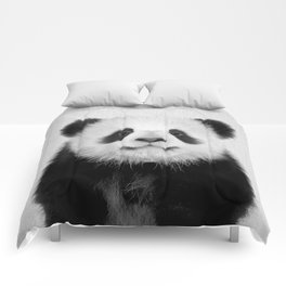 Panda Bear - Black & White Comforters