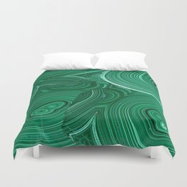 Green Malachite Nature Pattern Design Abstract Duvet Cover