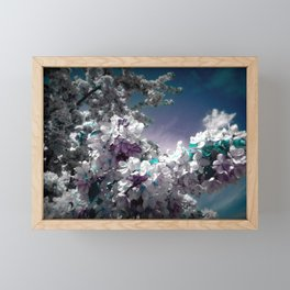 Flowers Purple & Teal Framed Mini Art Print