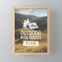 The Outdoor Book Readers Club Framed Mini Art Print