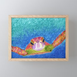 Hawksbill Turtle Framed Mini Art Print