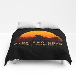 Bigfoot - Hide and Seek World Champion Comforters