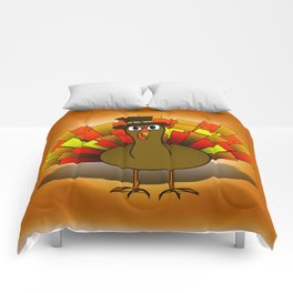 Thanksgiving Turkey Pilgrim Comforters