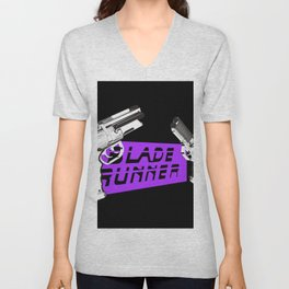 Time to die Version Neon Purple Unisex V-Neck