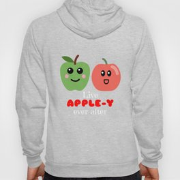 Live Apple y Ever After Cute Apple Pun Hoody