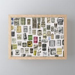 Vintage Victorian food cans Framed Mini Art Print