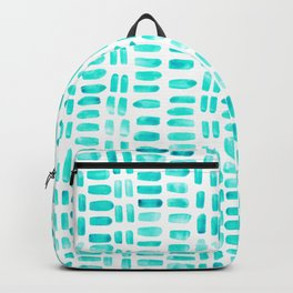 Abstract rectangles - turquoise Backpack