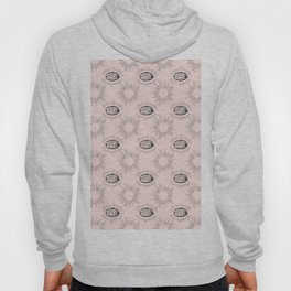 Sun and Eye of wisdom pattern - Pink & Black - Mix & Match with Simplicity of Life Hoody