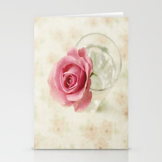 Vintage Textured Rose  Stationery Cards