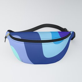 Retro Waves 1 (Blues) Fanny Pack
