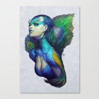 artgerm Canvas Prints featuring Peacock Queen by Artgerm™