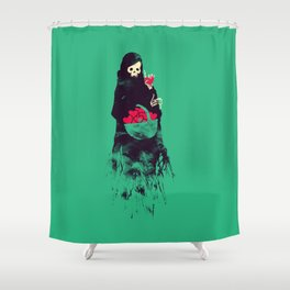 Death Valentine Gift Shower Curtain