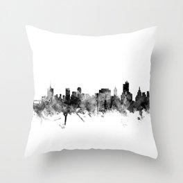 Tulsa Oklahoma Skyline Throw Pillow