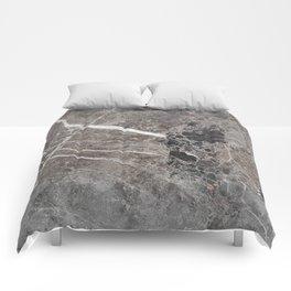 Dark Mural Marble Comforters
