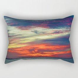 October Lake St.Clair Sunset Rectangular Pillow