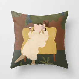 A wine a day keeps the doctor away Throw Pillow