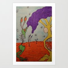 Tim and Missis Tree Art Print