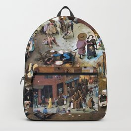 Pieter Bruegel - The Fight Between Carnival And Fasting - Digital Remastered Edition Backpack