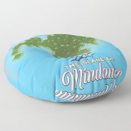 Mindanao Map Travel poster Floor Pillow