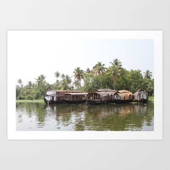 Houseboats II Art Print
