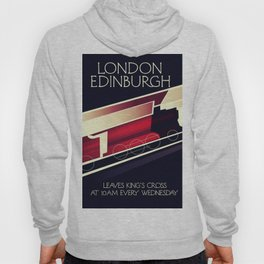London Edinburgh Locomotive vintage style poster Hoody