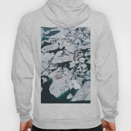 Icelandic glacier icebergs from above - Landscape Photography Hoody