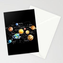 Solar System Stationery Cards