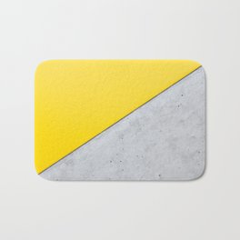 Yellow & Gray Abstract Background Badematte