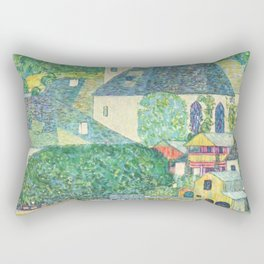 "Gustav Klimt ""Church in Unterach on the Attersee"" Rectangular Pillow"