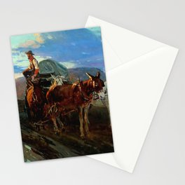 """""""California or Oregon"""" by Frank Tenney Johnson Stationery Cards"""
