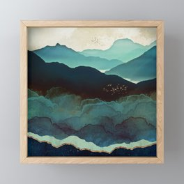 Indigo Mountains Framed Mini Art Print