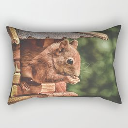 Foraging Squirrel in Little House Rectangular Pillow