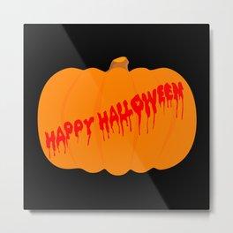 Totaly Evil Halloween Pumpkin Metal Print