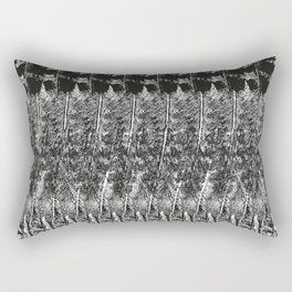 Feather Pattern | Bird Feathers | Black and White | Rectangular Pillow