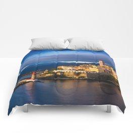 Sunrise in Bastia Comforters