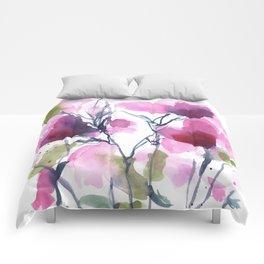 Pink Heart Petals Comforters