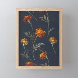 Vintage Marigolds Framed Mini Art Print