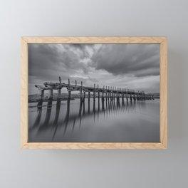 The old Wooden Bridge Framed Mini Art Print
