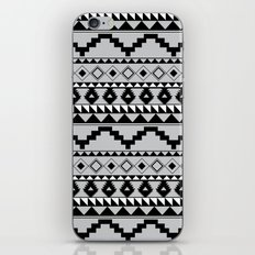 Aztec Pattern 2 Gray & Black iPhone & iPod Skin