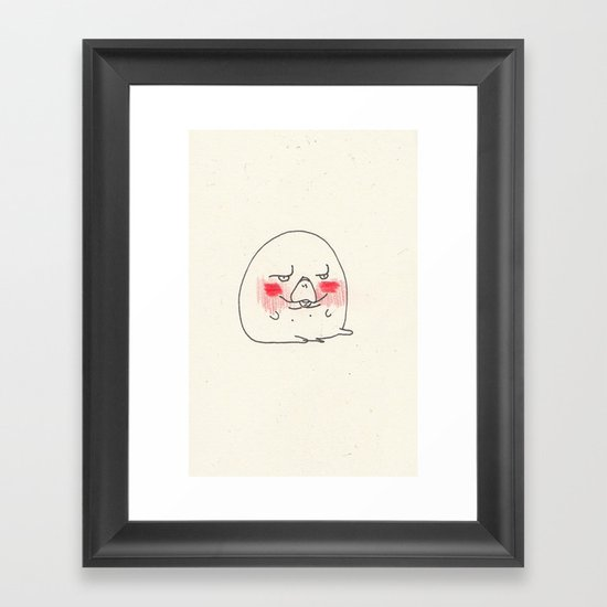 Disapproval Manatee Framed Art Print
