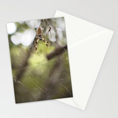 Walking in a spiderweb Stationery Cards