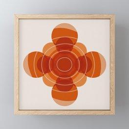 Earthy Red Scandinavian Floral Design Framed Mini Art Print