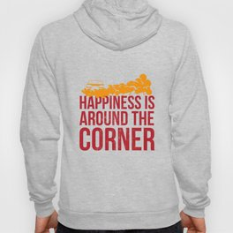 Happiness is Around the Corner Autocross Racing Cone T-Shirt Hoody