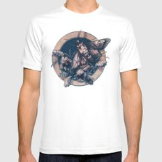 Circle of Life White MEDIUM Mens Fitted Tee