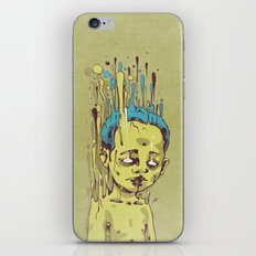 The Golden Boy with Blue Hair iPhone & iPod Skin